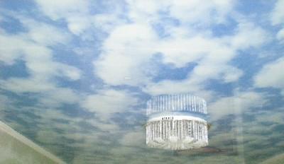Облака - стилизованное потолочное полотно