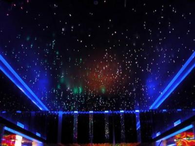 Натяжной потолок с эффектом звездное небо –великолепное решение для спальни