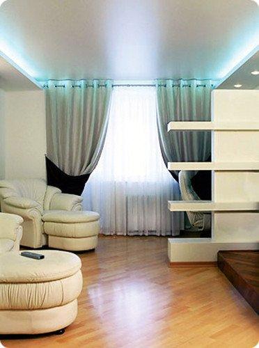 Ситцевые натяжные потолки, фото
