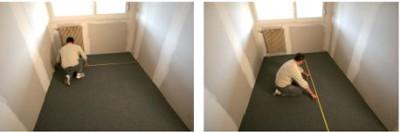 Замер длины и ширины помещения