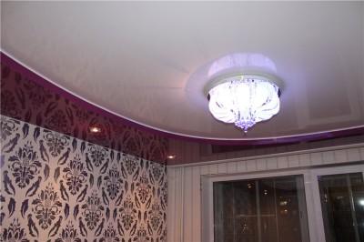 Примерный вид двухуровневого потолка.