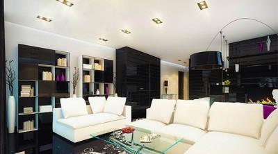 Большое помещения – фантазия и вкус