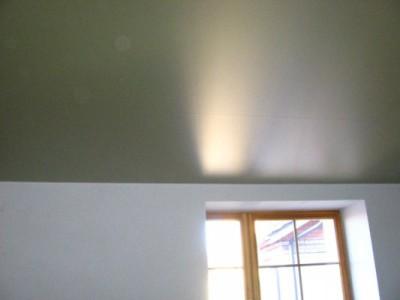 Вид потолка в новой спальне