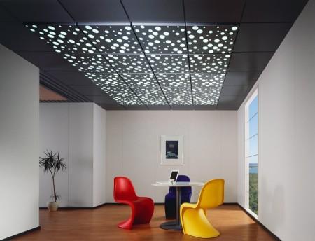 Кассетный потолок из стекла