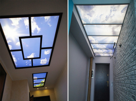 Светящиеся потолки в прихожей