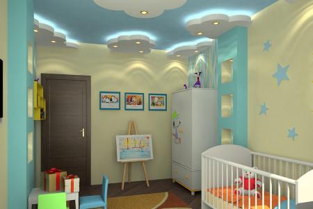 Гипсокартон в детской комнате