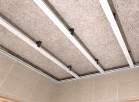 Каркас из пластиковых профилей для потолка из ПВХ