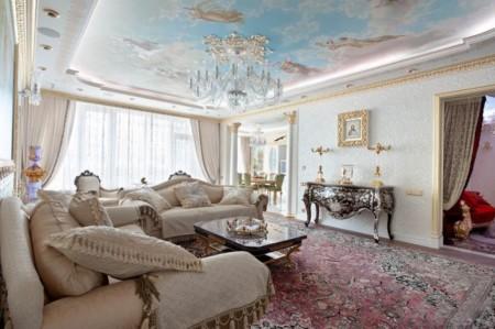 Пример дизайна помещения с использованием картинки с ангелами