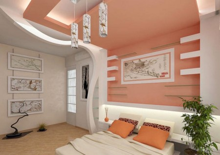 Интересное сочетание цветов в спальне