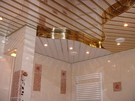 Оригинальный дизайн интерьера с потолком из пластика