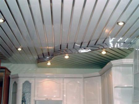 Дизайн кухни с применением алюминиевых полотен