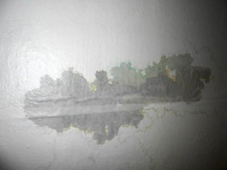 Загрязнения на потолочной поверхности выглядят неэстетично и некрасиво