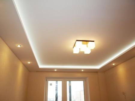 Готовый вариант гипсокартонного потолка