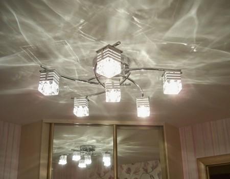 Оптимальный светильник для натяжного потолка