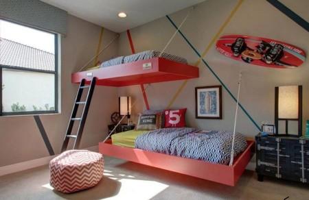 Фото детской кровати под потолок