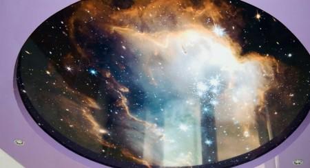Фото интерьера выполненного в космической тематике