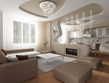 Интересный дизайн кухонной зоны в квартире студии