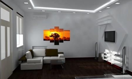 Фото дизайна интерьера с потолочной конструкцией