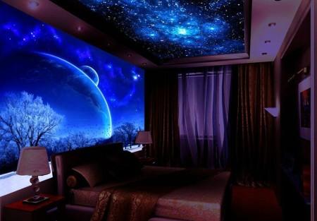 Пример звездного неба в комнате
