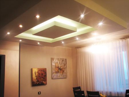 Гипсокартонный потолок на фото