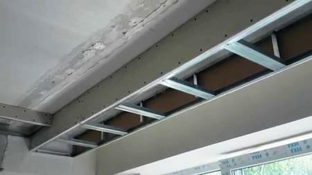 Зашивка потолочного покрытия