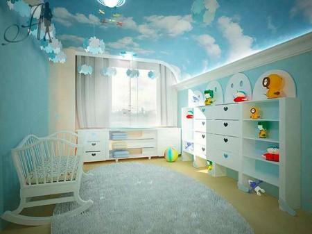 Дизайн с фотопечатью на натяжном полотне в детской