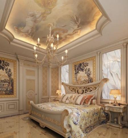 Комната, сделанная с помощью классического стиля