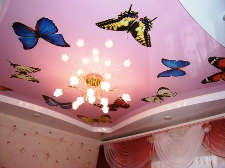 Потолочное покрытие для комнаты девочки