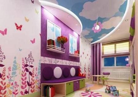 Детская комната – идеальное место для парящего облака