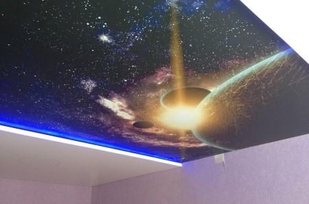 Пример потолка звездное небо