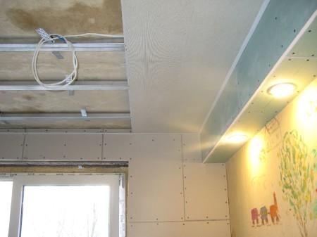Каркас для ПВХ панелей на потолок