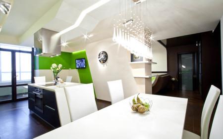 Кухня - различные источники света