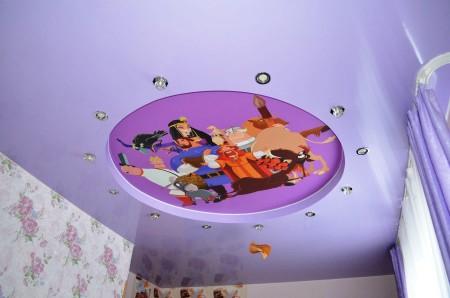 Изображение героев из мультика – интересный и оригинальный дизайн, который приведет ребенка в восторг