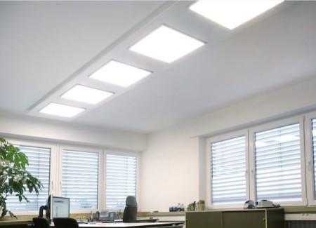 Помещение с освещением ЛЕД панелями