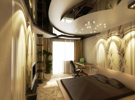 Элегантность и стиль натяжного потолка из гипсокартона