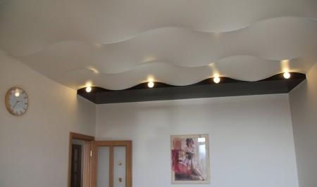 Пример дизайна комнаты сделанной в форме волны