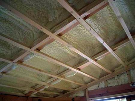 Фото двухъярусной обрешетки на потолок