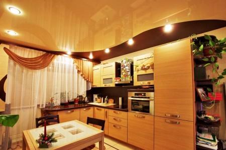 Многоуровневый потолок на кухне – один из вариантов дизайна