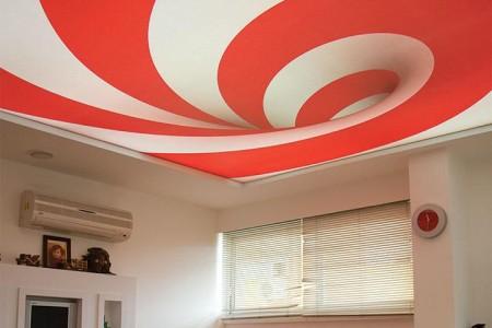 Фото потолка сделанного в форме спирали