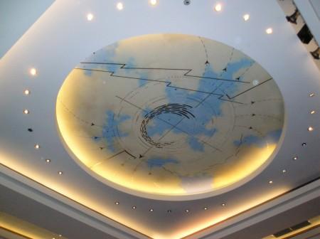 Пример гипсокартонной конструкции потолка