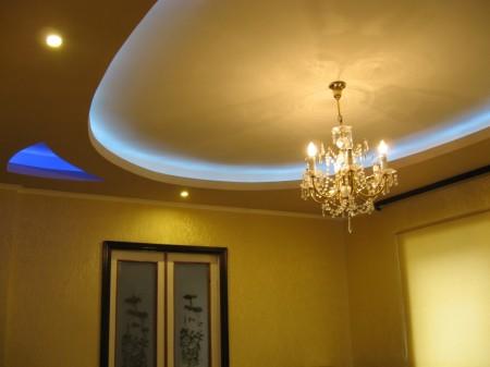 Освещение гипсокартонной конструкции
