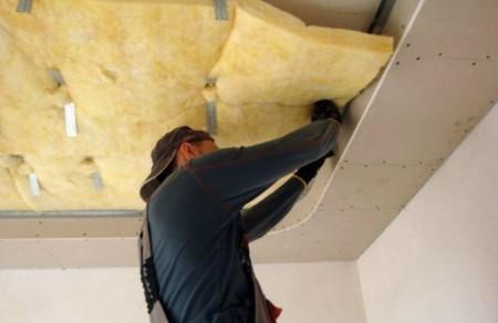 Утепление натяжного потолка изоляционным материалом