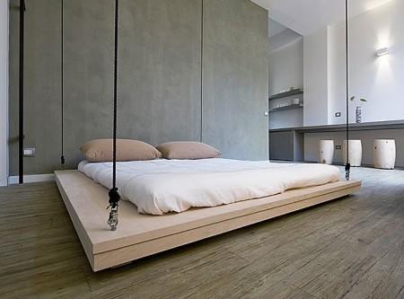 Подвесная кровать на потолок