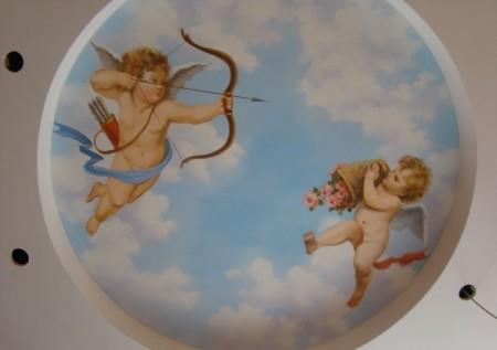 Рисунок с ангелом в виде амурчика или купидончика