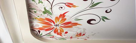 Орнамент из стилизованных цветов
