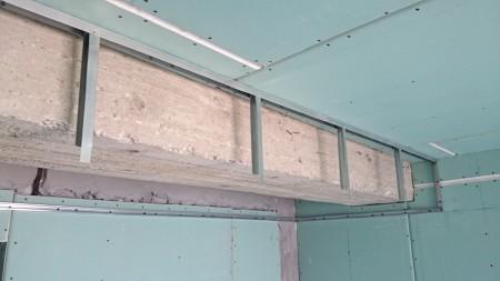 Создание каркаса под потолок из гипсокартона