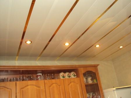 ПВХ-панели, подходящие для установки на кухонный потолок
