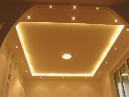 Гипсокартон на двухуровневый потолок