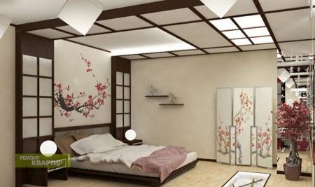 Фото японского дизайна помещения в светлых тонах
