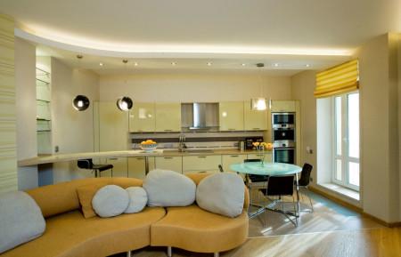 Гармония мебели с потолком